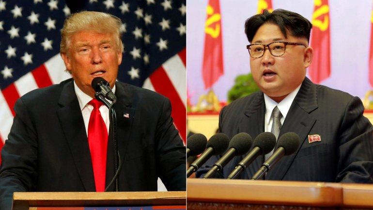 Tổng thống Mỹ Donald Trump & lãnh đạo Bắc Hàn Kim Chính Ân. Nguồn internet.