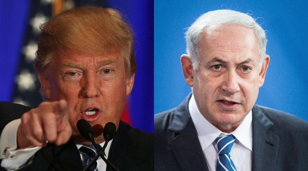 Tổng thống Trump và thủ tướng Do Thái Netanyahu. Nguồn internet.
