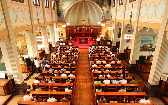 Một lễ công giáo nhân dịp Năm Đức Tin của người Việt tại nhà thờ Tajimi (Nagoya) (hình Nguyễn Văn Tuynh)
