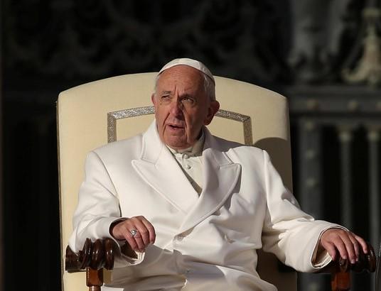 Đức giáo hoàng Francis trong hội nghị với các phóng viên tại Vatican ngày 24 tháng 1/2018 (nguồn Internet)