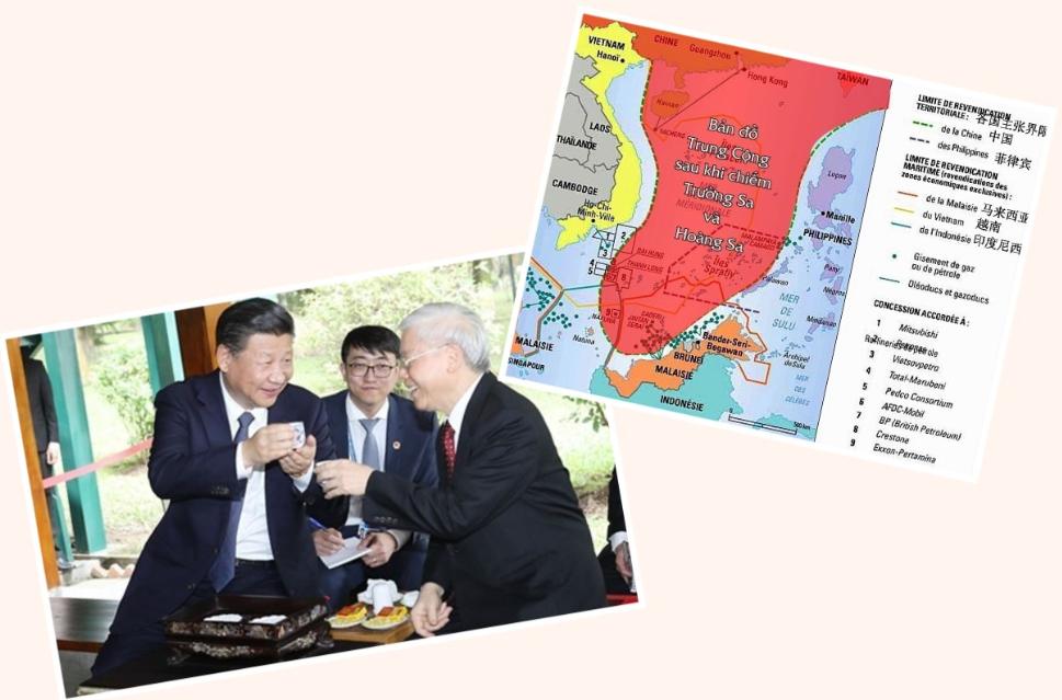 Nguyễn Phú Trọng nâng ly mừng Tập Cận Bình thành công trong ý nguyện. Nguồn internet.