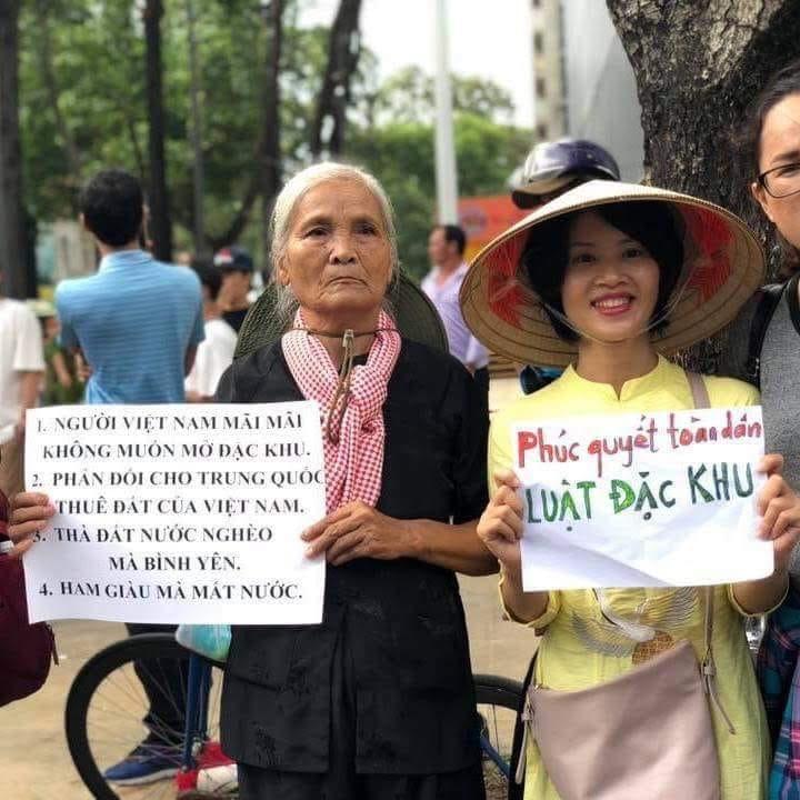 Mẹ cũng đi biểu tình. Hình ảnh từ internet.