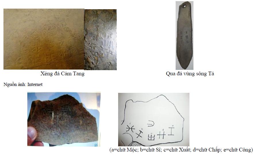 Các  ký hiệu giống như chữ khắc của người Việt cổ.