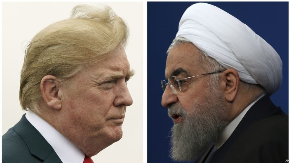 Tổng thống Hoa Kỳ Donald Trump vs Tổng thống Iran Hassan Rouhani. Nguồn internet.