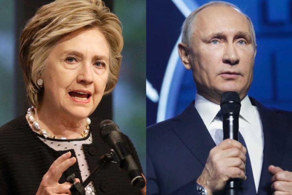 Hillary Clinton và tổng thống Nga Vladimir Putin. Nguồn internet.