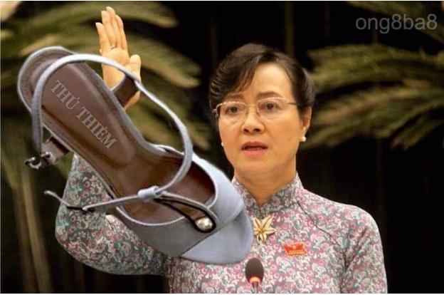 Bà Nguyễn Thị Quyết Tâm bị ăn giày. Nguồn Tễu Blog.