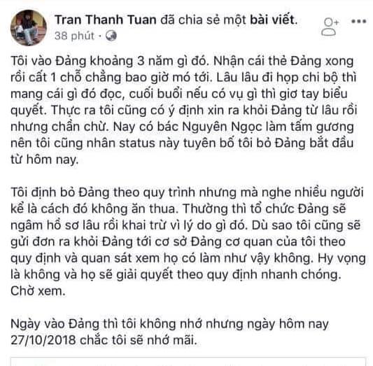 TS Trần Thanh Tuấn. Nguồn FB Đinh Văn Hải.