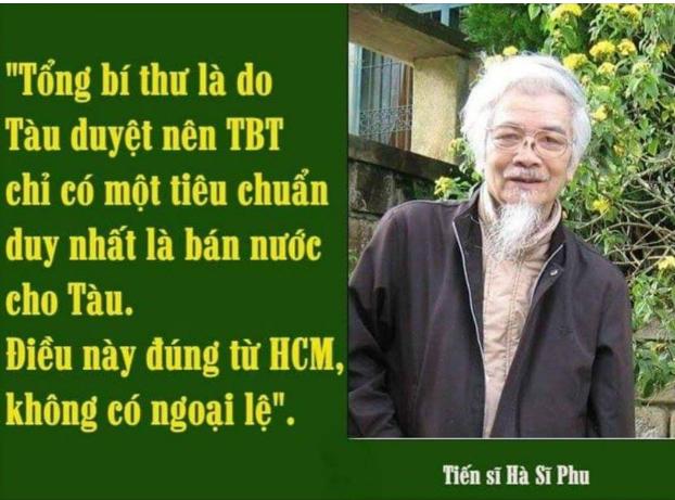 Hà Sĩ Phu lên tiếng về việc các nhân sĩ trí thức từ bỏ đảng CSVN. Nguồn FB Võ Hồng Ly.