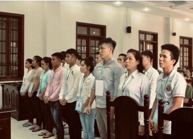 15 thanh niên Đồng Nai bị xử tù vì tội tham gia biểu tình chống luật đặc khu. Nguồn Face Book.