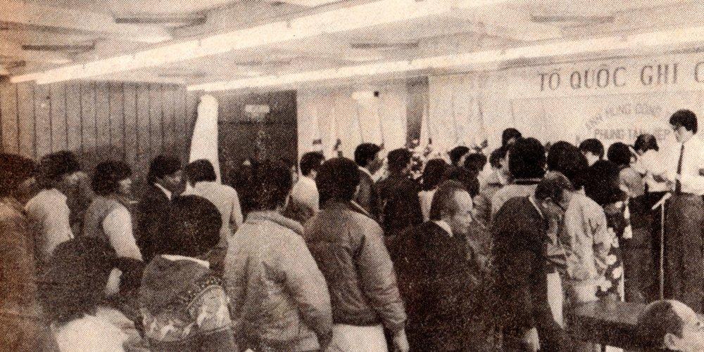 Lễ truy điệu Anh Hùng Phùng Tấn Hiệp 4/3/1984.