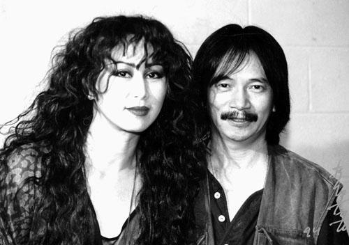 Nhạc sĩ Lê Uyên Phương và vợ ca sĩ Lê Uyên. Nguồn internet.
