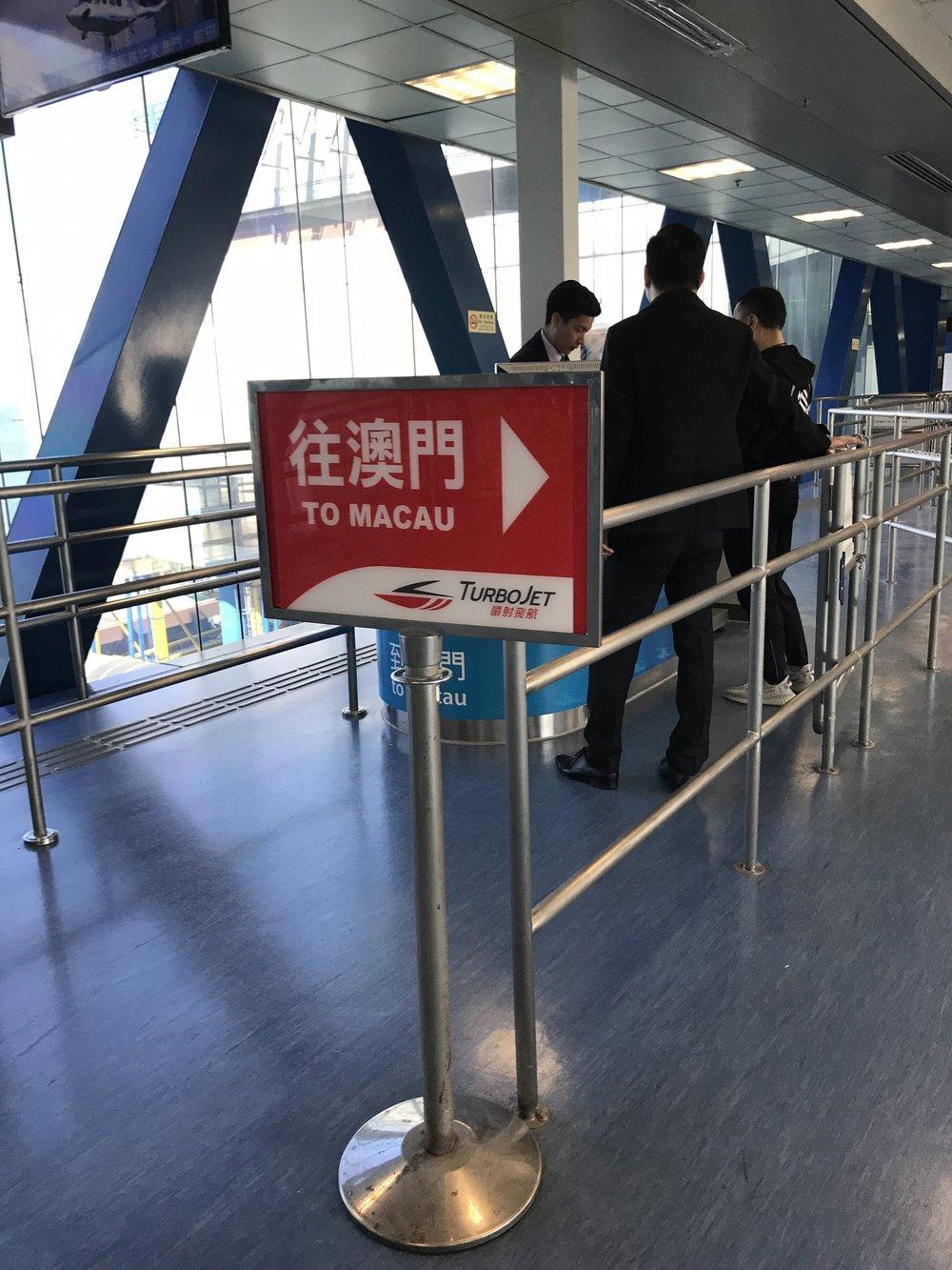 Rời Hong Kong đi Macau.
