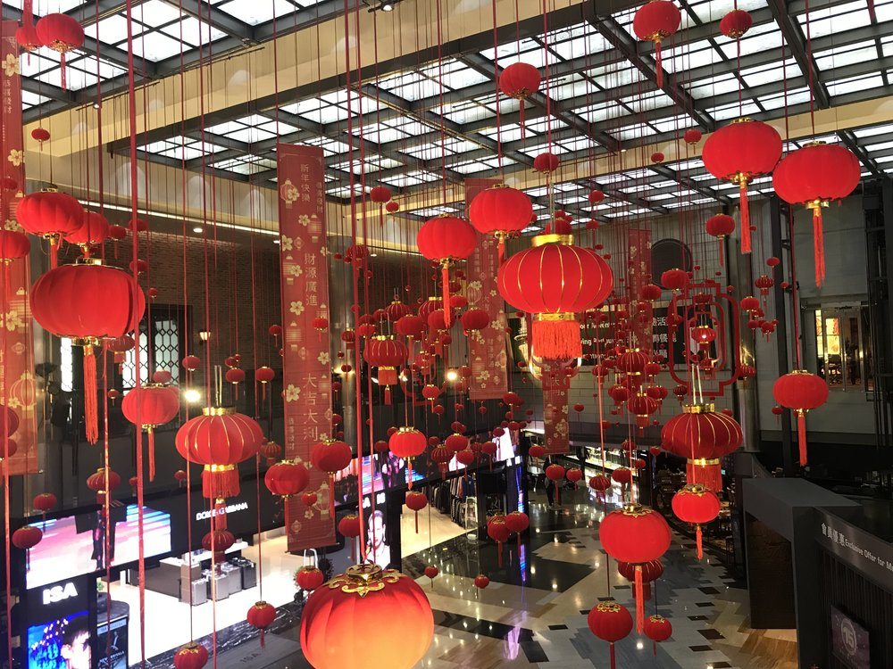 Quang cảnh chào đón Tết Âm Lịch bên trong tòa Tháp Macau.