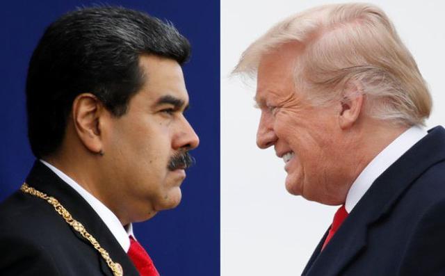 Tổng thống Nicolás Maduro ở Venezuela và Tổng Thống Hoa Kỳ Donald Trump. Nguồn internet.
