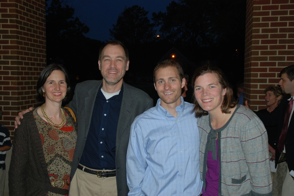 AMELIA AND JEFF SCHULTZ WITH BROOKE AND I THE NIGHT OF MY baccalaureate FROM SEMINARY.