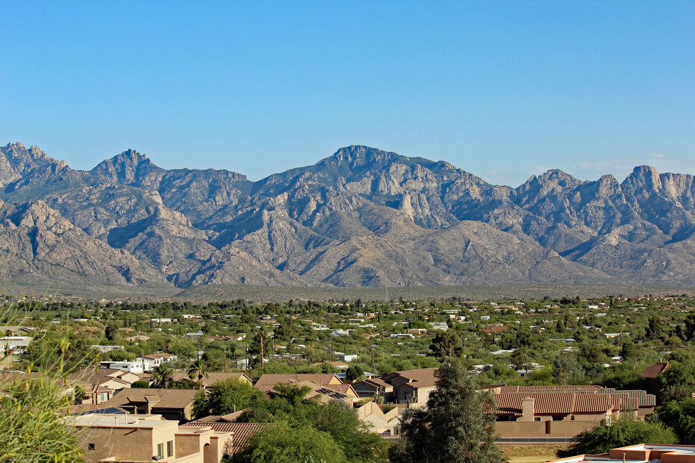 The Catalina Mountains in Tucson, Arizona.