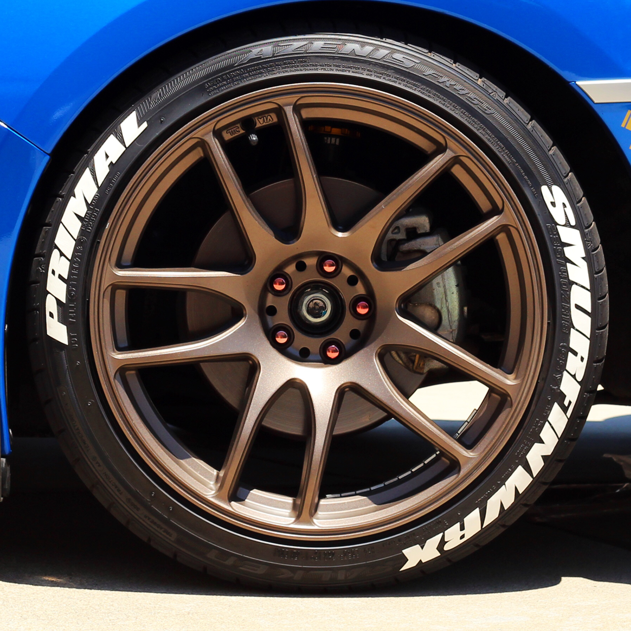 Custom tag your tires kit tag your tires
