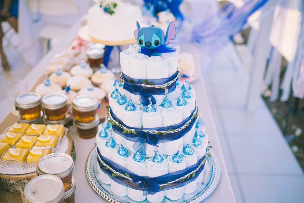 Jenni & Tyler's Stitch Theme Baby Shower