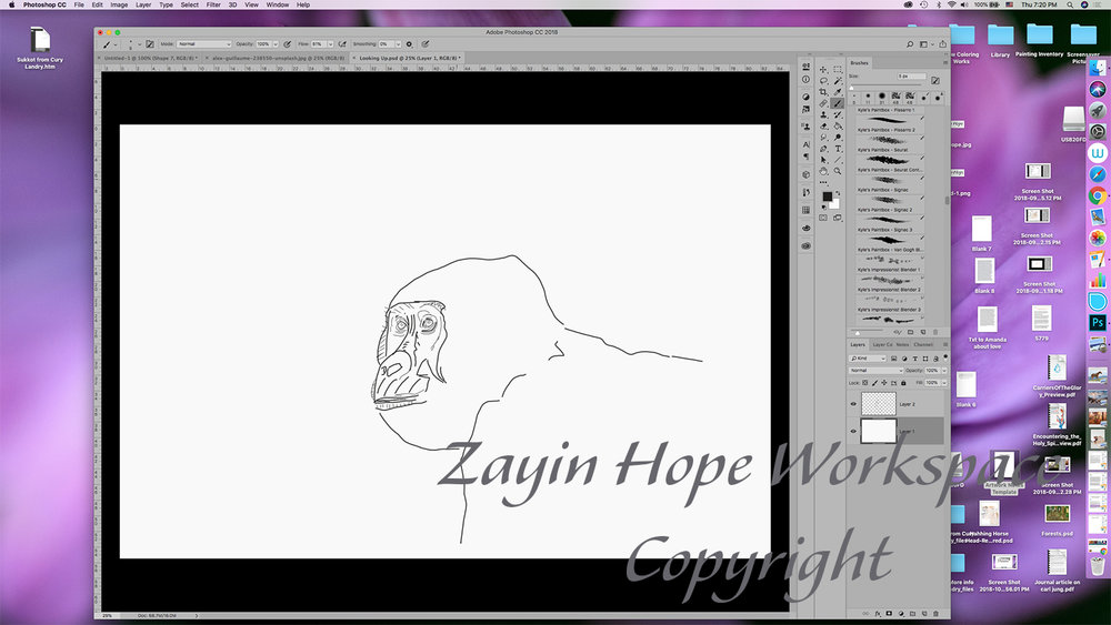 1 Screen shot gorilla looking up outline 1042018.jpg