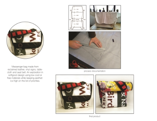 3. Learning is not simply to get from A to B with A's and B's. It is about reflecting on your learning process. Here our student documents and shared the many steps of creating a messenger bag.