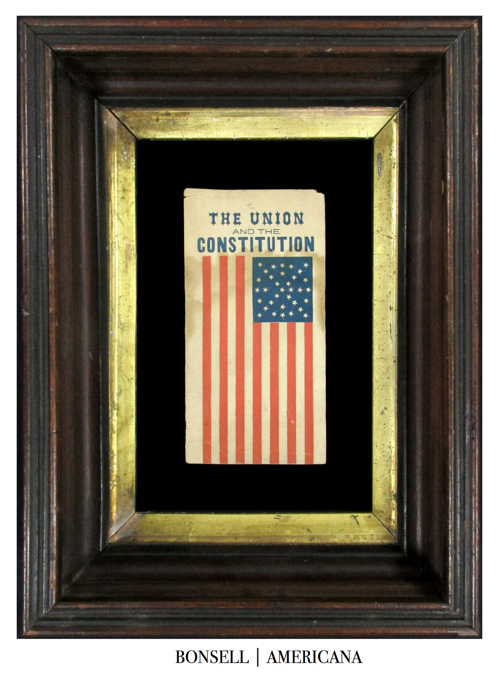The Union and the Consitution Antique Flag
