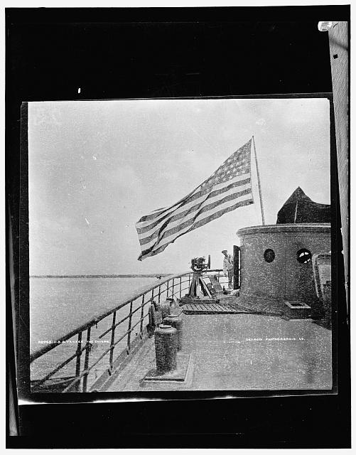 U.S.S. Yankee with Flag | Circa 1898