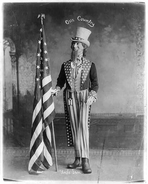 Uncle Sam with Flag | Circa 1899