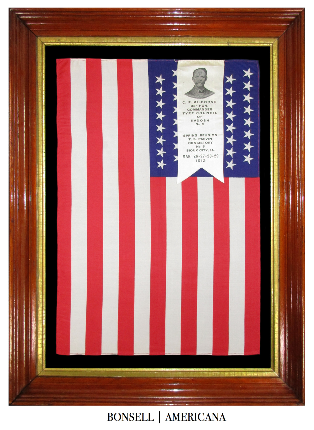 48 Star Antique Flag Used for Spring Reunion in 1912