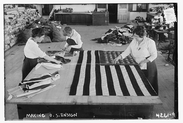 Women Making Flags at the Brooklyn Navy Yard | Circa 1917