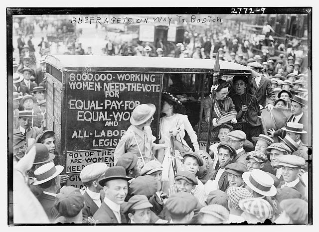 Suffragettes on the Way to Boston | Circa 1910