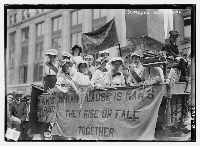 Suffragette Hay Ride | Circa 1910