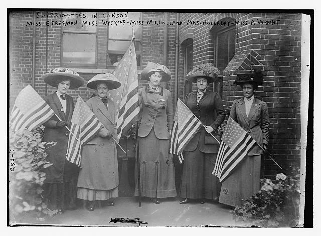 Suffragettes Holding Flags | Circa 1910