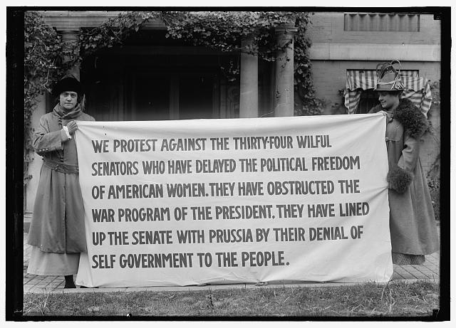 Women's Suffrage Banner | Circa 1918