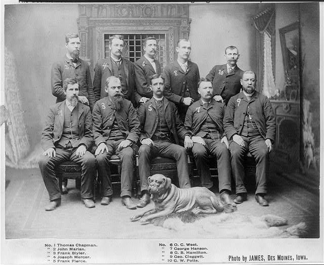 Constables of the Des Moines Searchers and Advance Guard of the Fighting Prohbition Army | Circa 1889