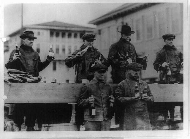 Truck Load of Beer Enroute to Chicago, Which Was Captured at Zion City, Illinois | Circa 1910