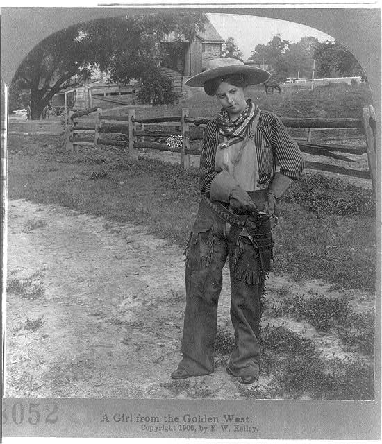 A Girl from the Golden West | Circa 1906