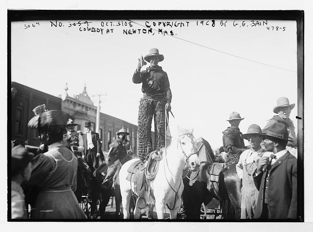 Cowboy in Newton, Kansas | Circa 1908