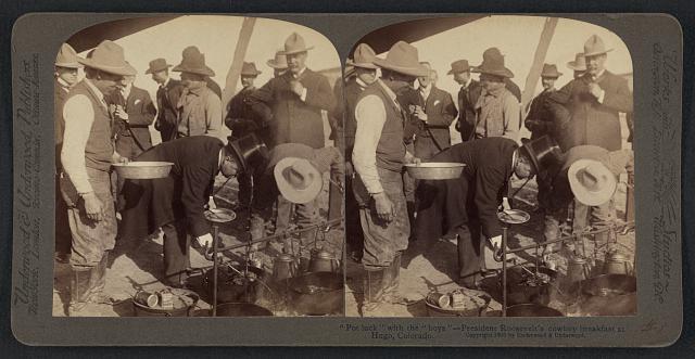 President Roosevelt's Cowboy Breakfast in Hugo Colorado | Circa 1903