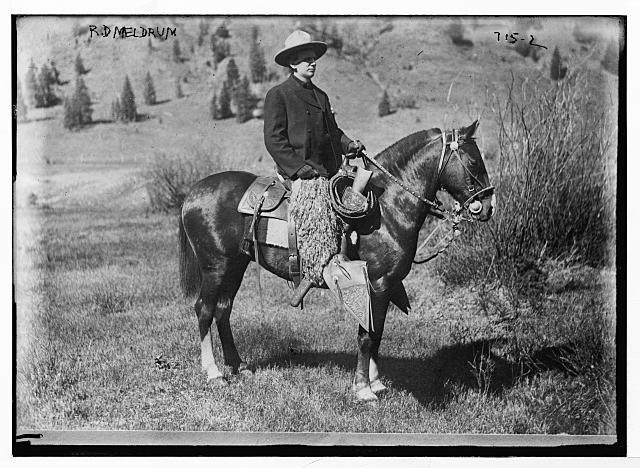 R.D. Meldrum, a Cowboy on a Quarter Horse | Circa 1900