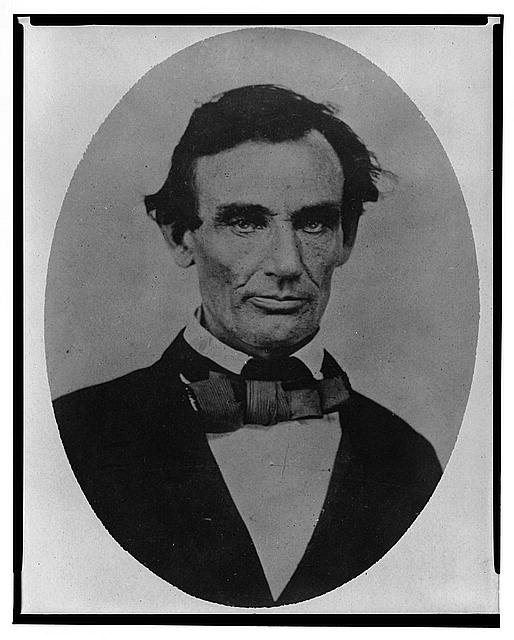 Abraham Lincoln in Pittsfield, Illinois, Two Weeks Before the Final Lincoln-Douglas Debate | Circa 1858