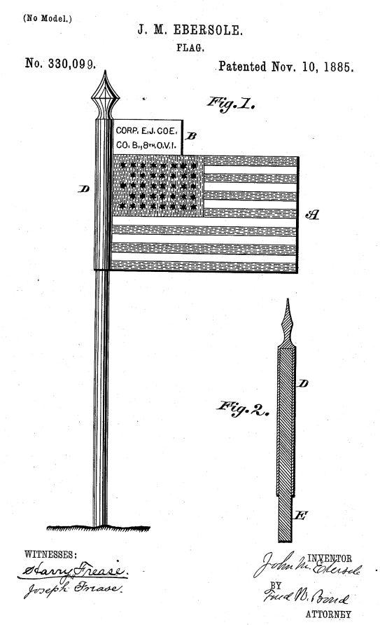 US330,099 | Flag | Circa 1885