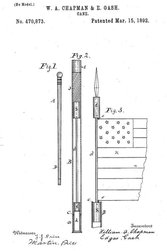US470,873 | Cane | Circa 1892