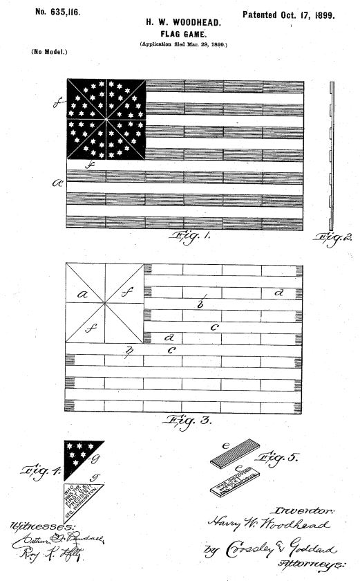 US635,116 | Flag Game | Circa 1899
