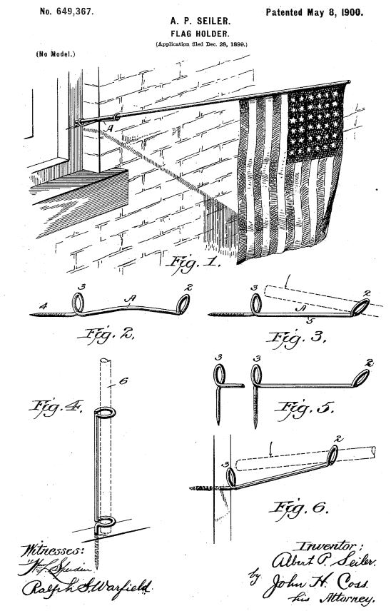 US649,367 | Flag Holder | Circa 1900