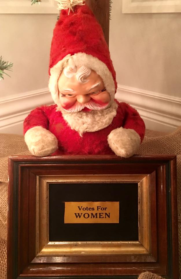 Coming Soon: Santa with Votes for Women Ribbon