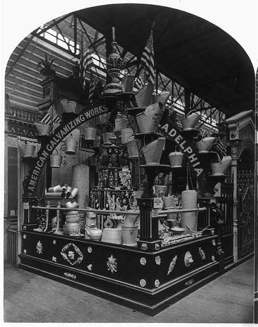 American Galvanizing Co.'s Exhibit at the Centennial Exhibition | Circa 1876