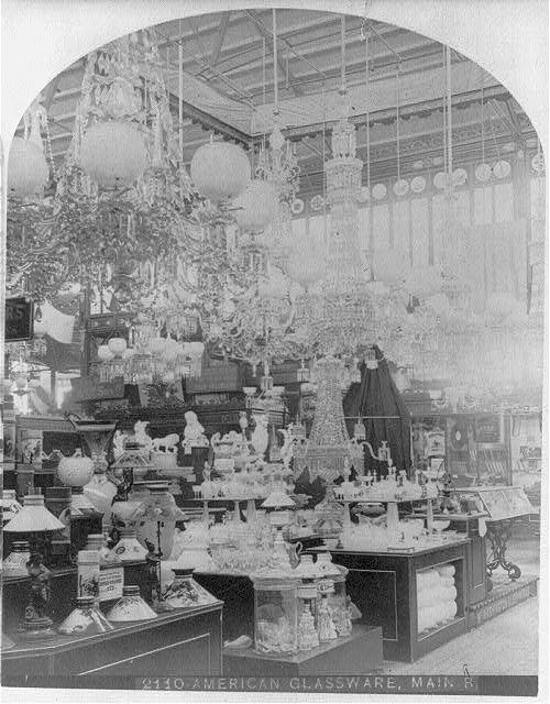 American Glassware Display at the Centennial Exhibition | Circa 1876