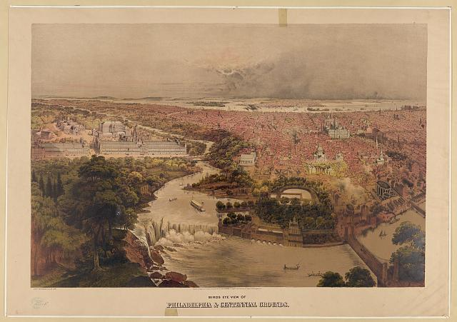 Bird's Eye View of the Centennial Grounds | Circa 1876