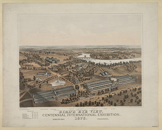 Bird's Eye View of the Centennial International Exhibition | Circa 1876
