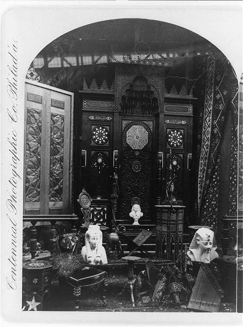 Display of Egyptian Materials of the Centennial Exhibition | Circa 1876